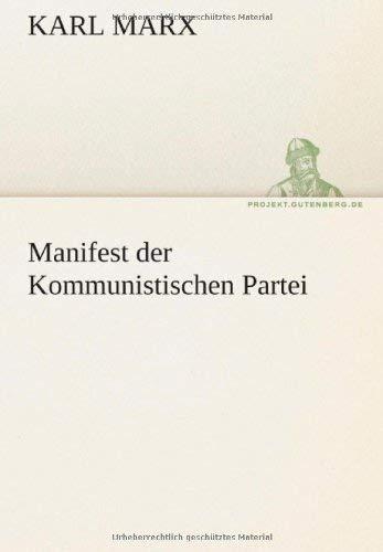 Manifest Der Kommunistischen Partei 9783842413153