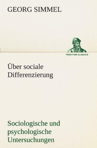 Ber Sociale Differenzierung 9783842416086