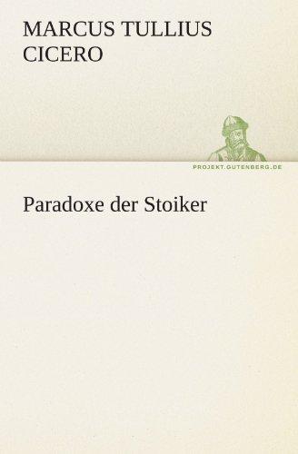 Paradoxe Der Stoiker 9783842469600
