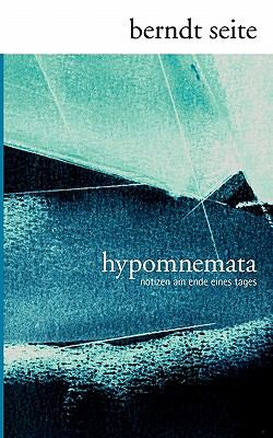 Hypomnemata 9783844882063