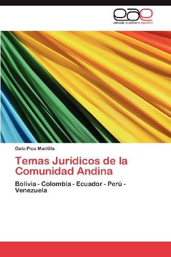 Temas Jur Dicos de La Comunidad Andina 9783845483900