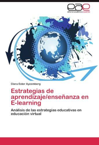 Estrategias de Aprendizaje/Ense Anza En E-Learning 9783845485478