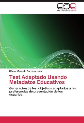 Test Adaptado Usando Metadatos Educativos 9783846579831