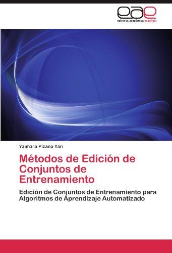 M Todos de Edici N de Conjuntos de Entrenamiento 9783847353010