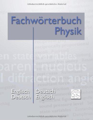 Fachw Rterbuch Physik 9783848209019