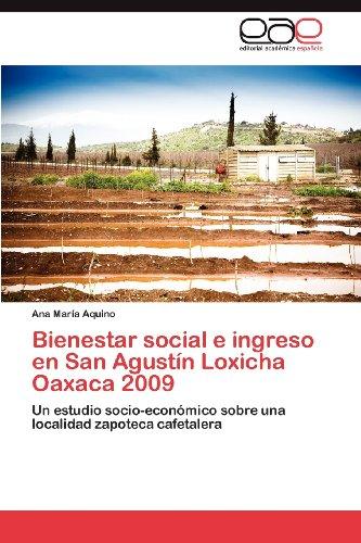 Bienestar Social E Ingreso En San Agust N Loxicha Oaxaca 2009 9783848454051