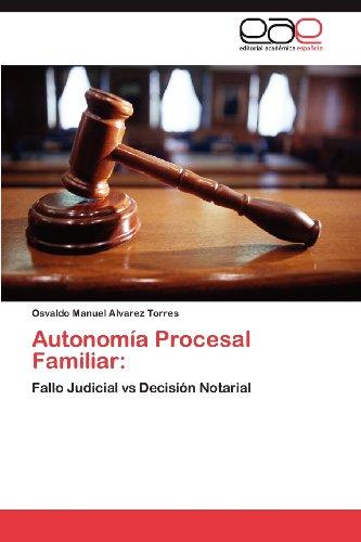 Autonom a Procesal Familiar 9783848475469