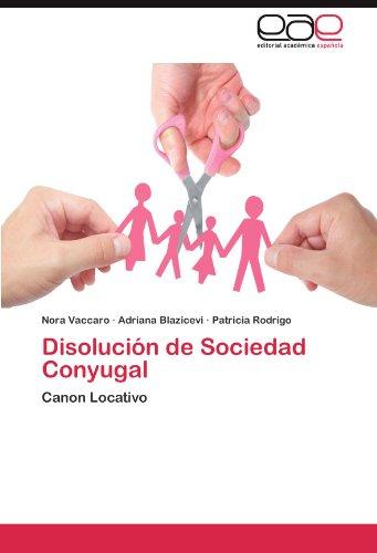 Disoluci N de Sociedad Conyugal 9783845480268