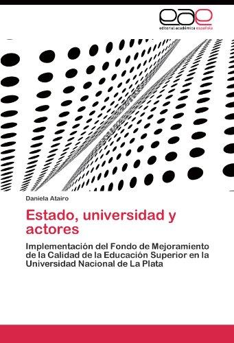 Estado, Universidad y Actores 9783844349757