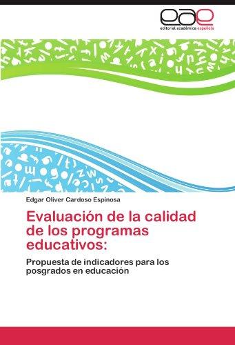 Evaluaci N de La Calidad de Los Programas Educativos 9783846571750