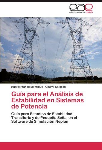 Gu a Para El an Lisis de Estabilidad En Sistemas de Potencia 9783845497648