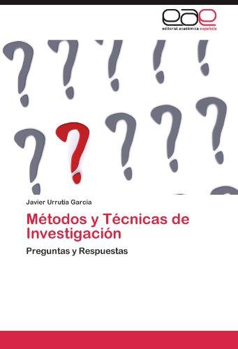M Todos y T Cnicas de Investigaci N 9783845491387