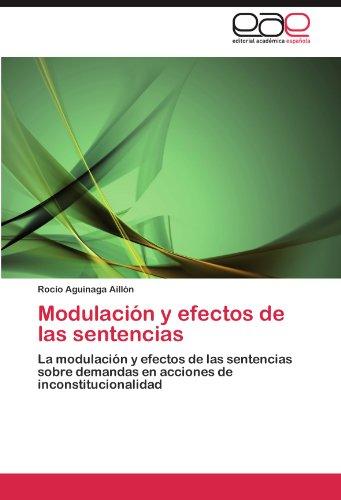 Modulaci N y Efectos de Las Sentencias 9783845497372