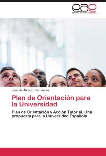 Plan de Orientaci N Para La Universidad 9783847360230
