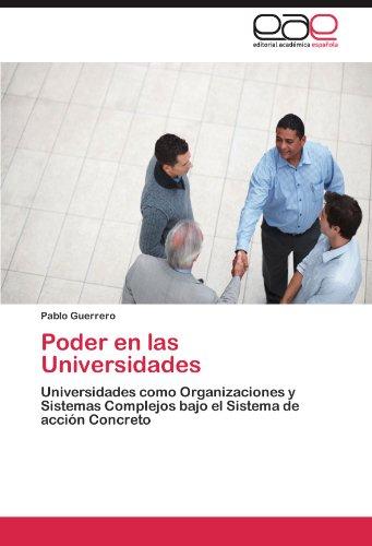 Poder En Las Universidades 9783845493428