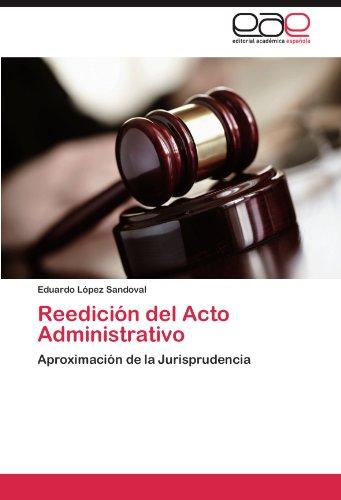 Reedici N del Acto Administrativo 9783845496153