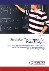 Statistical Techniques for Data Analysis 17563548