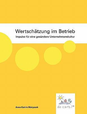 Wertsch Tzung Im Betrieb 9783842346659