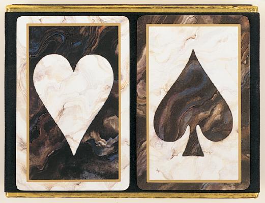 """Black Marble """"Monogram"""" Velour Pack: Two Decks"""