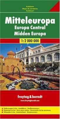 CENTRAL EUROPE ROAD MAP 1:2,000,000 9783850842167