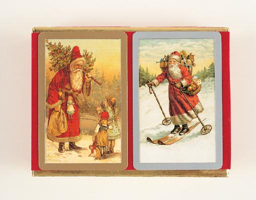 Victorian Santa Velour Pack: Two Decks