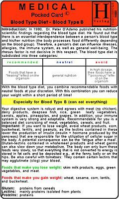 Blood Type Diet, Blood Type B 9783868110319