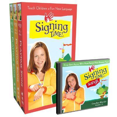 Signing Time! Volume 1-3 Vhs Gift Set