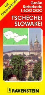 Grosse Reisekarte 1:600 000, Tschechei, Slowakei: Mit Ortsverzeichnis = Road Map 1:600 000, Czech Republic, Slovak Republic: With Index