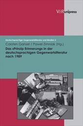 Das Prinzip Erinnerung in Der Deutschsprachigen Gegenwartsliteratur Nach 1989 10393592