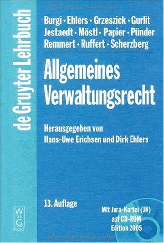Allgemeines Verwaltungsrecht 9783899492156