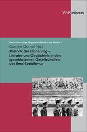 Rhetorik Der Erinnerung - Literatur Und Gedachtnis in Den >Geschlossenen Gesellschaften 8080719