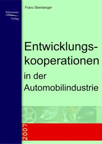 Entwicklungskooperationen in Der Automobilindustrie 9783937686998