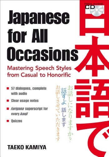 Japanese for All Occasions: Mastering Speech Styles from Casual to Honorific [With CD (Audio)] 9784770031518