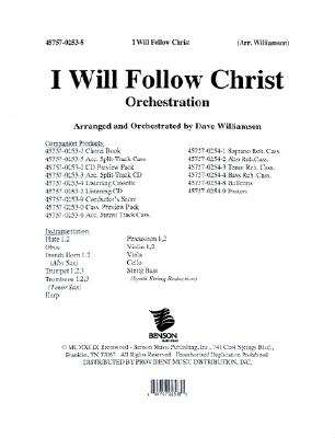 I Will Follow Christ: Orchestration
