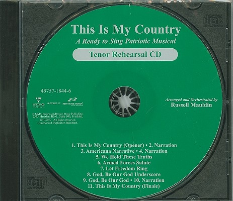 This Is My Country-Tenor: A Ready to Sing Patriotic Musical