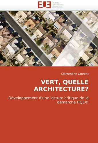 Vert, Quelle Architecture? 9786131513275