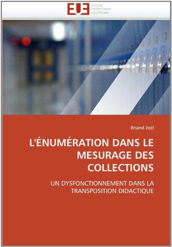 L' Num Ration Dans Le Mesurage Des Collections 9786131550294