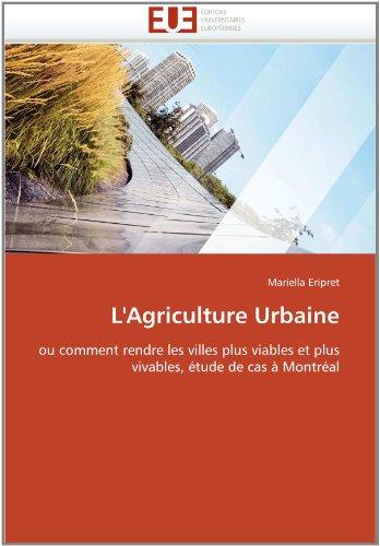 L'Agriculture Urbaine 9786131553400
