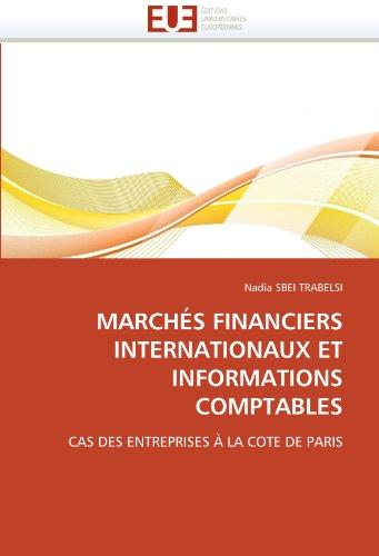 Marches Financiers Internationaux Et Informations Comptables 9786131554155