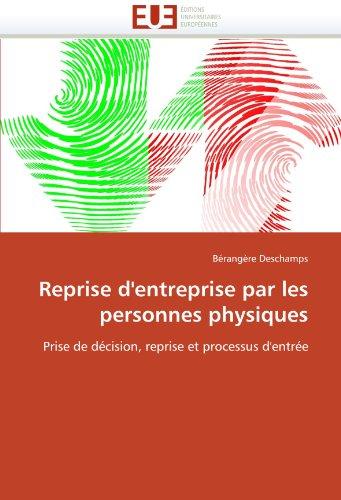 Reprise D'Entreprise Par Les Personnes Physiques 9786131556883