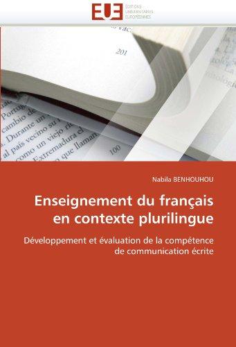 Enseignement Du Francais En Contexte Plurilingue 9786131557569