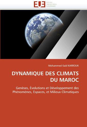 Dynamique Des Climats Du Maroc 9786131557613