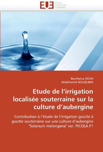 Etude de L'Irrigation Localisee Souterraine Sur La Culture D'Aubergine 9786131557774