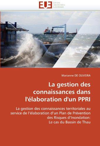 La Gestion Des Connaissances Dans L'Elaboration D'Un Ppri 9786131558399