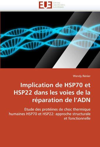 Implication de Hsp70 Et Hsp22 Dans Les Voies de La R Paration de L'Adn 9786131563300