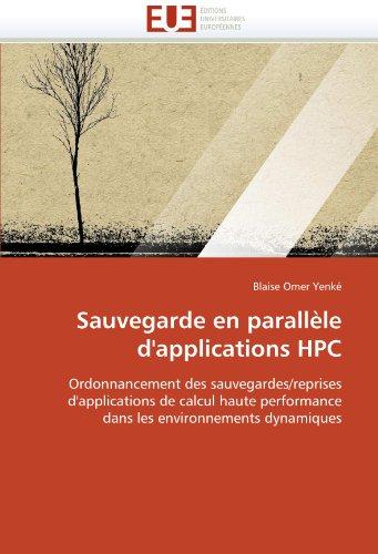 Sauvegarde En Parall Le D'Applications HPC 9786131588075