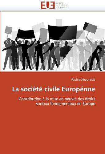 La Soci T Civile Europ Nne 9786131591198