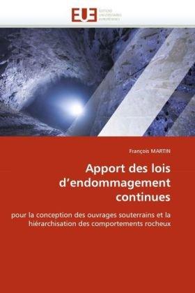 Apport Des Lois D'Endommagement Continues 9786131525926