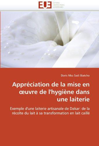 Appr Ciation de La Mise En Uvre de L'Hygi Ne Dans Une Laiterie 9786131586941