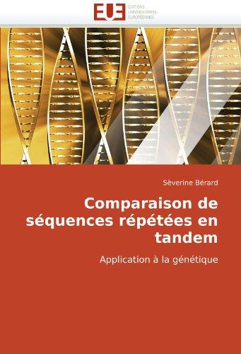 Comparaison de Squences Rptes En Tandem 9786131509063